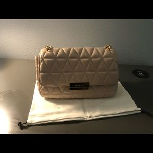 Michael Kors Sloan Convertible Crossbody Soft Pink Quilted Leather Purse